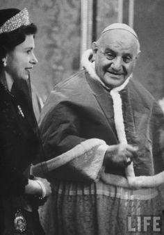Queen Elizabeth and Pope John XXIII; 1961