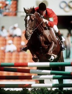 Canada's Ian Miller rides Big Ben in the equestrian event at the 1988