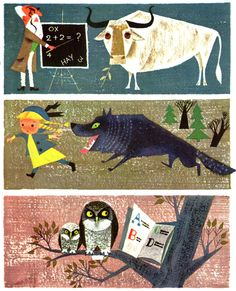 from ''The Animal Fair'', written and illustrated by Alice & Martin Provensen. Via http://www.presentandcorrect.com/blog/scans-from-the-animal-fair