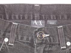 A/X Armani Exchange Women's Black Stretch Form Fitting Jeans Size 30S Short EUC #AXArmaniExchange #StraightLeg