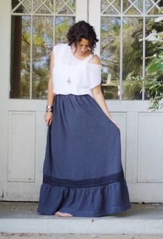Isabella Maxi Skirt sewing pattern from Rebecca Page - The Pattern Pages Sewing Magazine Maxi Skirt Boho, Linen Skirt, Skirt Patterns Sewing, Skirt Sewing, Sewing Magazines, Lace Inset, Summer Outfits, Fashion Outfits, Clothing Ideas
