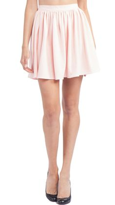 Full Woven Skirt, Summer Peach by American Apparel: shoes and the skirt are both so very sweet.