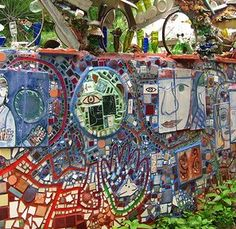 magical mosaic garden in Philly
