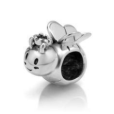 925 Sterling Silver Honey Bee Bead Charm Fits Pandora Bracelet, Fashion Jewelry for Women