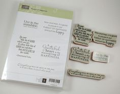 Stampin Up Pursuit Of Happiness Quotes Emerson Tutu Clear Foam Mount Pre Owned…