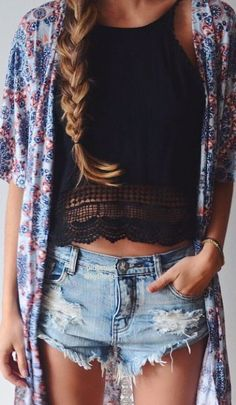 Need ideas? These awesome Casual Summer Outfit Ideas will give you enough inspiration to look gorgeously hot and comfortable this summer!( li like it, and since I am short it may be long enough.)