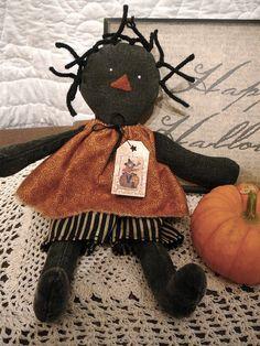 Halloween Baby e-Pattern Primitive Wood Crafts, Primitive Stitchery, Primitive Patterns, Primitive Folk Art, Primitive Christmas, Primitive Snowmen, Country Christmas, Christmas Snowman, Christmas Trees