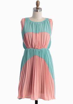 Lovely Rhapsody Colorblocked Dress