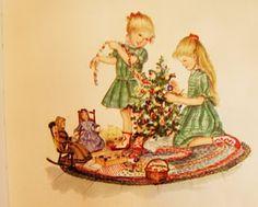 Christmas illustration by Tasha Tudor