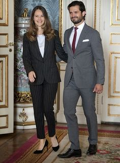 Princess Sofia and Prince Carl Philip of Sweden attended a symposium at Royal Palace