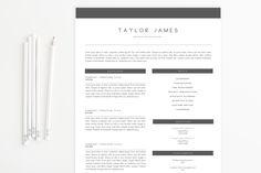 Simple Modern Resume Template by lecvshoppe on Creative Market