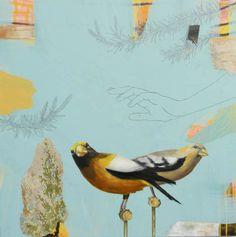 'Evening Grosbeaks' by Anne Sargent Walker