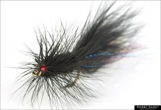 The Black Wooly Bugger, with a few strands of crystal flash in the tail, is a true go-to fly.