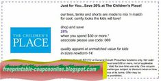 Childrens Place Coupons Ends of Coupon Promo Codes JUNE 2020 ! Home Depot Coupons, Walgreens Coupons, Grocery Coupons, Free Printable Coupons, Free Printables, Golden Corral Coupons, Mcdonalds Coupons, Jcpenney Coupons