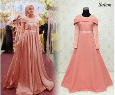 Gaun Pesta Muslimah Elegan Sabrina Maxy salem Gown Style Dress, Dress Brukat, Dress Outfits, Hijab Evening Dress, Hijab Dress Party, Dress Anak, Dress Pesta, Kebaya Modern Dress, Kebaya Dress