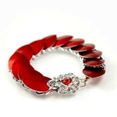 Scalemaille armbånd, bright aluminium BeChained