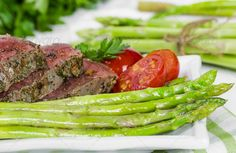 Beef steak medium roast ...  Mignon, asparagus, background, barbecue, bbq, beef, beefsteak, cooked, dinner, dish, fillet, food, fries, garnish, gourmet, green, grill, grilled, lunch, meal, meat, medium, piece, plate, prepared, red, rib, ribeye, roast, roasted, sirloin, steak, tenderloin, tomato, vegetable, vegetables, white