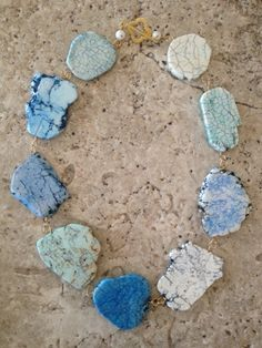 "Magnesite Necklace (Assorted Blue) 19"""