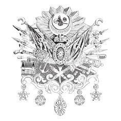Ottoman Empire coat of arms hand-drawing by Engin Korkmaz