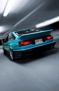Blue #Sammed #Toyota #ae86