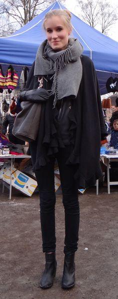 Oslo street style: http://www.bohemiantrails.com/my-favorite-boho-markets/ #chic #fashionista