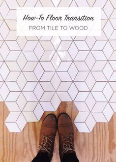 Create an eye-catching transition from tile to wood with these tips and tricks. Ceramic floor tile is both durable and beautiful, making it a great choice for entryways, bathrooms, kitchens, and much more! Ceramic Floor Tiles, Bathroom Floor Tiles, Kitchen Tiles, Kitchen Flooring, Ceramic Flooring, Kitchen With Tile Floor, Kitchen Soffit, Farmhouse Flooring, Farmhouse Interior