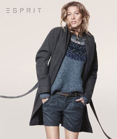 Gisele Bundchen Sports Relaxed Style for Esprits Fall 2012 Campaign by David Sims