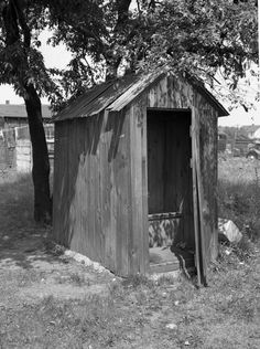 Outhouse Series: View showing the girls side of a dual outhouse. | Florida Memory