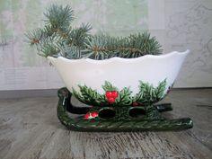 Vintage Lefton Christmas Sleigh  Holiday decor  by TheCuriousMoose, $16.00