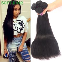 95.00$  Watch now  - Raw Indian Straight Hair weft Cheap Straight Virgin Hair Indian Remy Hair 3 Bundles Hot 6A Indian Virgin Hair Straight Weave