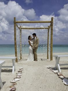 destination weddings at sandals - love this back drop