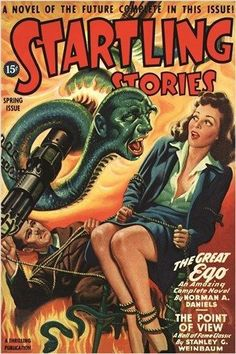 STARTLING STORIES vintage COMIC BOOK COVER poster SPOOKY SCI-FI 24X36 rare