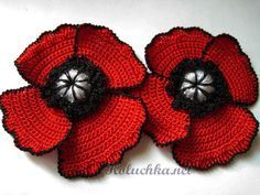 Crochet Flower Free Pattern (huge amount of free patterns for flowers at this site)