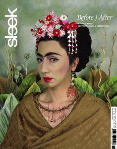 SLEEK Magazine issue 15    Yasumasa Morimura 'Handshaped Earring' from the series 'An Inner Dialogue with Frida Kahlo' 2001 #sleekmag #sleek #fridakahlo #magazine #berlin #cover #art