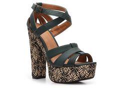 Qupid Gossip Sandal High Heel Sandal Shop Women's Shoes in Green- $34.94 at DSW