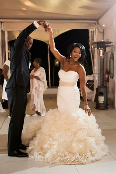 Check out today's gorgeous Real Wedding in Cape Town, South Africa, captured by Greg Lumley. Wedding Goals, Wedding Attire, Afro, Black Bride, Dream Wedding Dresses, Beautiful Bride, Bridal Style, Wedding Styles, Wedding Colors