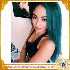 Find More Synthetic Wigs Information about Free shipping eye catching silky Straight black to green ombre color Synthetic Lace Front Wig Heat Resistant Hair Lace Wigs,High Quality lace band,China wig jokes Suppliers, Cheap wig mesh from Eye-catching Fashion Co.,Ltd on Aliexpress.com