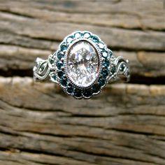 Vintage+Inspired+Yehuda+Diamond+Engagement+by+AdziasJewelryAtelier,+$7375.00  Neat design