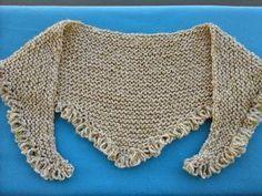 Execução: Colocar 110 pontos na agulha para tricô 8 e tricotar da seguinte maneira: A primeira carreira tricotar em ponto...