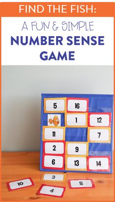 This number sense game is a fun way to practice number identification for kindergarten and first grade students! You can also play this with sight words or letters!