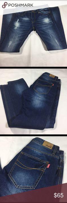 Distressed Coca-Cola denim jeans Dark blue Distressed Coca-Cola denim jeans Coca-Cola Jeans Straight Leg
