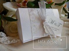 Silver glitter with ribbon box