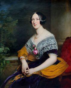 1847 Franz Schrotzberg - Portrait of Russian Princess Julia Luise Golicyn (born Baranov)