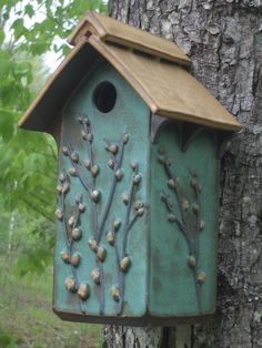 SOLD Black Capped Chickadee House