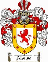 ALONSO family crest / coat of arms from www.4crests.com #coatofarms #familycrest #familycrests #coatsofarms #heraldry #family #genealogy #familyreunion #names #history #medieval #codeofarms #familyshield #shield #crest #clan #badge #tattoo