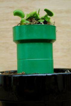 Living Mario Bros. Piranha Chomper Plant – Tutorial!  Geeky gift idea.