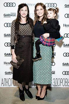 Taryn Simon and Dasha Zhukova and her daughter  Leah Lou