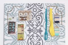 Giant Fabric Covered Pin Board Tutorial | Teal and Lime by Jackie Hernandez
