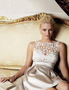 short vintage-inspired wedding dress