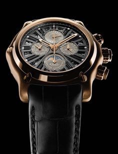 The Watch Quote: Ebel 1911 BTR Perpetual Calendar Chronograph in pink gold watch Perpetual Calendar, Gold Watch, Pink And Gold, Omega Watch, Chronograph, Watches, Quote, Accessories, Calendar
